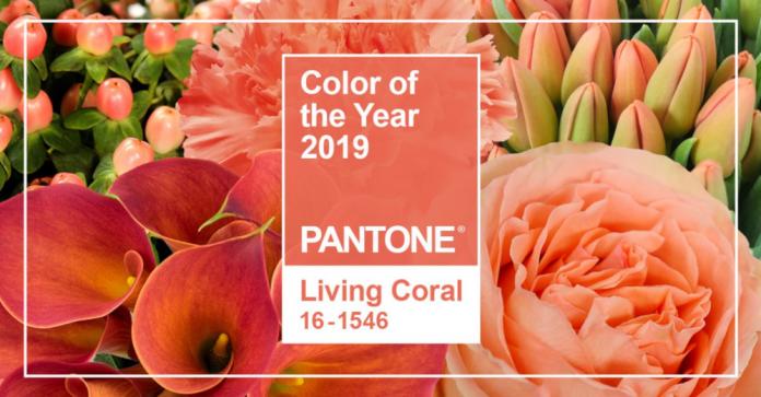 Kolor roku 2019 - Living Coral we florystyce
