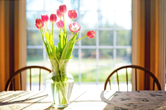 jak wyczyścić szklany wazon