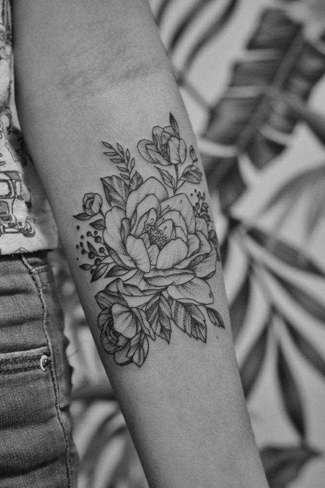 Tatuaż z kwiatami